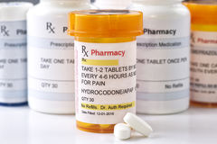Fascimile Hydrocodone Prescription Stock Images