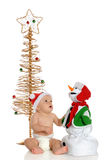 Fascinated with Christmas Toy Stock Photo