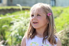 Fascinated little girl Royalty Free Stock Photo