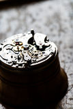 Fascinating antique watch mechanism on repair table Royalty Free Stock Image