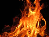 Fascinating photos of the flames. A fascinating photo of the flames made on a black background stock photo