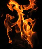 Fascinating photos of the flames. A fascinating photo of the flames made on a black background stock photos