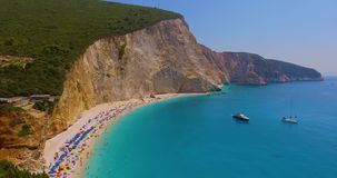 Fascinating Porto Katsiki. In Lefkada. One of the most beautiful beaches in the world stock footage