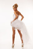 Fascinating standing bride Royalty Free Stock Photo