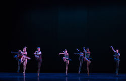 Fascinating tap dance-Classical ballet `Austen collection` Royalty Free Stock Images