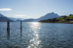 Fascinating view of Lucerne Lake in Switzerland Stock Image