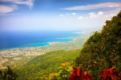 Fascinating view on Puerto Plata city from the top of Pico Isabel de Torres Royalty Free Stock Images