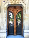 Fascinating vintage door, history and beauty in Barcelona city, Spain. Fascinating vintage door, history, time, fashion, luxury, beauty, craftsmanship stock image
