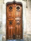 Fascinating vintage door, history and beauty in Barcelona city,Spain. Fascinating vintage door, history, time, fashion, luxury, beauty, craftsmanship, enchanting stock image