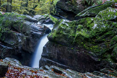 Fascinating waterfall in the mountains.  Royalty Free Stock Photos