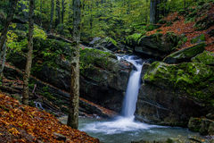 Fascinating waterfall in the mountains Royalty Free Stock Images