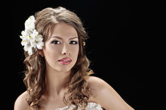 Fascination bride Royalty Free Stock Photo