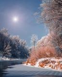 Fascinerend de winterlandschap Royalty-vrije Stock Afbeeldingen