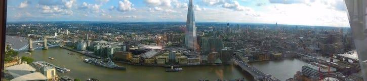 Fascinerende mening over Londons-horizon royalty-vrije stock foto