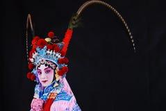 Fascini artistici dell'opera di Pechino fotografia stock libera da diritti