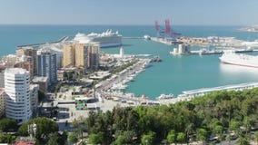 Fascino dei mari che vanno da Malaga stock footage