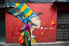 Fascino del Kampong a Singapore immagine stock libera da diritti