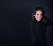 Fascino della donna con gli occhi fotografia stock libera da diritti