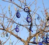 Fascino fortunato: Occhi diabolici dalla Turchia Fotografie Stock Libere da Diritti