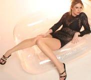 Fascino nero del merletto Fotografia Stock
