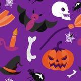 Fascino senza cuciture di vettore di Halloween del modello Immagine Stock