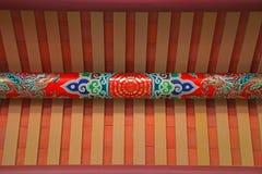 Fascio di tetto principale del tempiale di Tainan Confucius Fotografie Stock