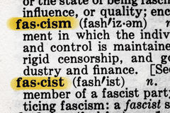 Fascism Dictionary Definition Royalty Free Stock Photos