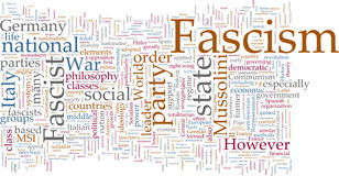 Fascism word cloud Royalty Free Stock Photos