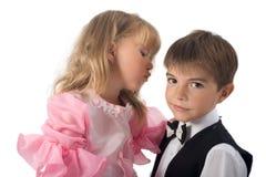 fascynujące parę dzieci Obraz Royalty Free