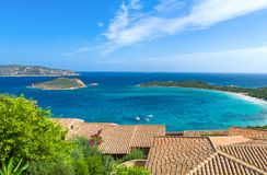 Fascynujący luksus północno-wschodni Sardinia i natura Zdjęcie Stock