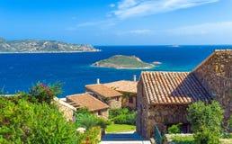 Fascynujący luksus północno-wschodni Sardinia i natura Zdjęcia Royalty Free