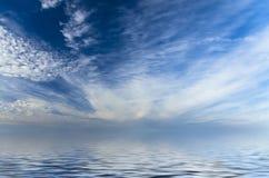 Fascynujący, lekki morze krajobraz Zdjęcia Royalty Free