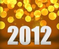 Fase 2012 del fondo dell'nuovo anno dell'oro Fotografie Stock Libere da Diritti