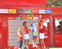 Fase 6 del podio del giro della spagna 2011 Fotografia Stock Libera da Diritti