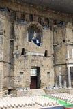 Fase arancio del teatro romano ed entrata della fase principale Fotografia Stock