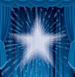 Fase blu dei raggi Fotografia Stock