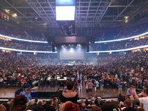 Fase che è installata per il viaggio ad Amalie Arena In Tampa immagine stock libera da diritti