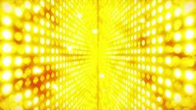 Fase che accende fondo con effetto delle molte luci Animazione astratta del ciclo della discoteca Illuminazione al neon d'ardore  illustrazione vettoriale