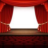 Fase con la tenda rossa Vettore di ENV 10 Fotografia Stock
