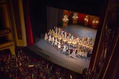Fase da ópera do estado de Viena, foto editorial imagens de stock
