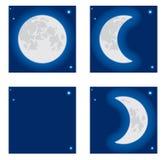 Fase da lua. Foto de Stock Royalty Free