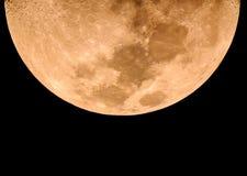 Fase da lua amarela Fotografia de Stock