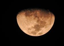 Fase da lua amarela Foto de Stock Royalty Free