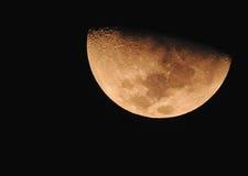 Fase da lua amarela Imagens de Stock