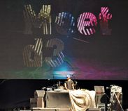 Fase da música no distrito D3 do projeto de Dubai Fotografia de Stock