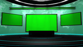 fase da televisão 3d Imagens de Stock