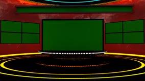 fase da televisão 3d Fotos de Stock Royalty Free