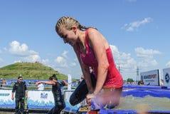 Fase das banheiras do gelo na raça do extrim Tyumen Imagens de Stock