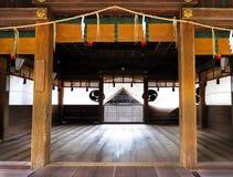 Fase de Kagura, santuário de Himure Hachiman, OMI-Hachiman, Japão Fotografia de Stock