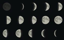 Fase de la luna Foto de archivo libre de regalías